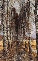 Avenue of birch trees - Iulii Iul'evich (Julius) Klever