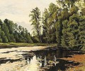 Reflections in a woodland lake - Andrei Nikolaevich Shilder