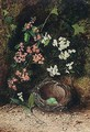 Still Life Of Birds Nest With Primulas And Blossom - John Atkinson Grimshaw
