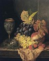 Still Life With Fruit, Bird's Nest And A Goblet - Edward Ladell