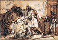 Pen And Brown Ink And Wash Over Graphite - Benjamin West