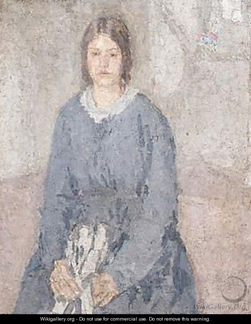 Girl in Profile - Gwen John - WikiGallery.org, the largest