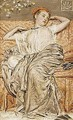 Study Of A Draped Figure - Albert Joseph Moore