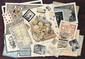 A Trompe L'Oeil With Maps, Prints, Playing Cards And A Sheet Of Music - English School