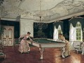 Women Playing Billiards - Heinrich Hansen