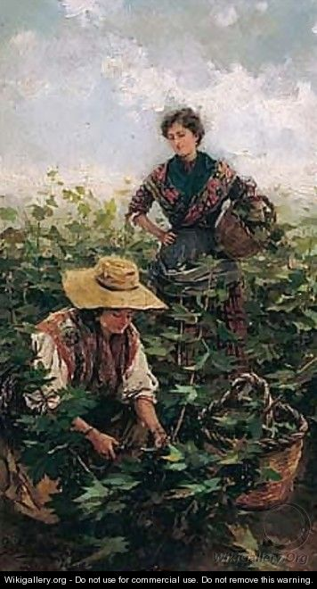 Recogiendo Uvas (Picking Grapes) - Gabriel Puig Roda