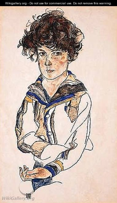 Portrait of a boy 2 - Egon Schiele