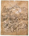 Jupiter In Glory Surrounded By Other Gods And Goddesses - Central Italian School