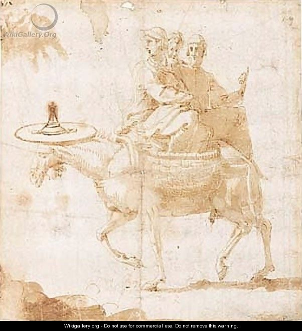 Pen And Brown Ink And Wash - Francesco de