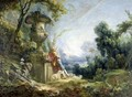 Young Shepherd In A Landscape - François Boucher