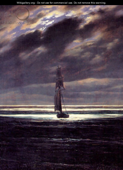 Seascape in the Moonlight (ca. 1835) - Caspar David Friedrich