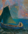 Sailing Boat with Two Passengers (La Barque) - Odilon Redon