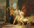 Socrates Dragging Alcibiades from the Embrace of Aspasia - Jean-Baptiste Regnault