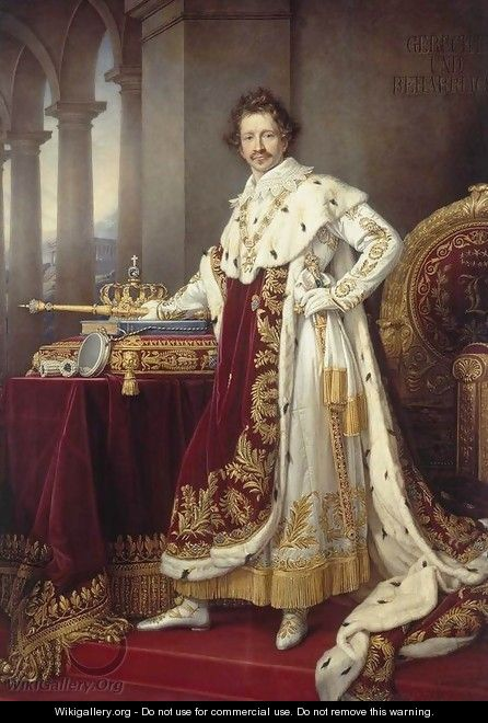 King Ludwig I in his Coronation Robes - Joseph Karl Stieler