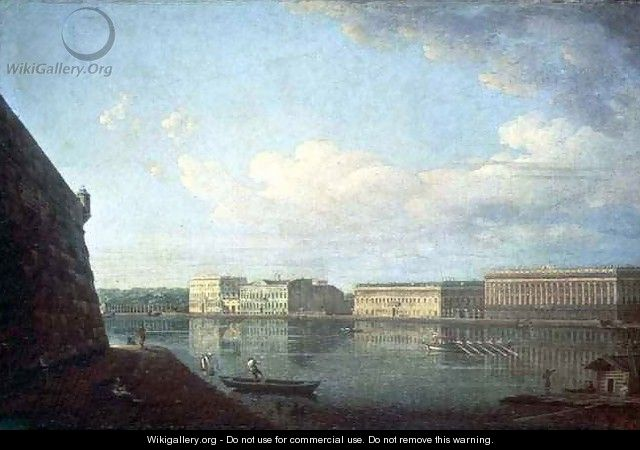 The Palace Embankment seen from the Peter and Paul Fortress, St. Petersburg - Fedor Yakovlevich Alekseev