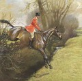Lt. Col. Ted Lyon Jumping a Hedge - Cecil Charles Aldin