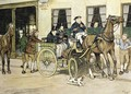 The Pickwickians start from the Bull Hotel at Rochester 2 - Cecil Charles Aldin