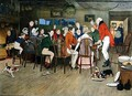 The Christmas Dinner at the Inn - Cecil Charles Aldin