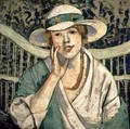 The White and Green Hat - Georgette Agutte