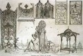 Examples of Turkish, Arabic and Persian Tombs, from 'Art and Industry' - (after) Albanis de Beaumont, Jean Francois