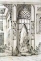 Fireplace in the Palace of the Seven Towers, in Isfahan, from 'Art and Industry' - (after) Albanis de Beaumont, Jean Francois