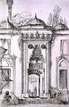 Entrance to the Mosque of Bayazid II, in Constantinople, from 'Art and Industry' - (after) Albanis de Beaumont, Jean Francois