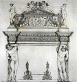 Fireplace from the Ambassadors' Hall, in the Ducal Palace, in Venice, from 'Art and Industry' - (after) Albanis de Beaumont, Jean Francois