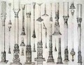 Persian and Turkish wooden column designs, from 'Art and Industry' - (after) Albanis de Beaumont, Jean Francois