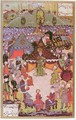 The King of Hungary, Lajos II (1506-26) in council before the battle of Mohacs in 1526 - Beg Ali Amir