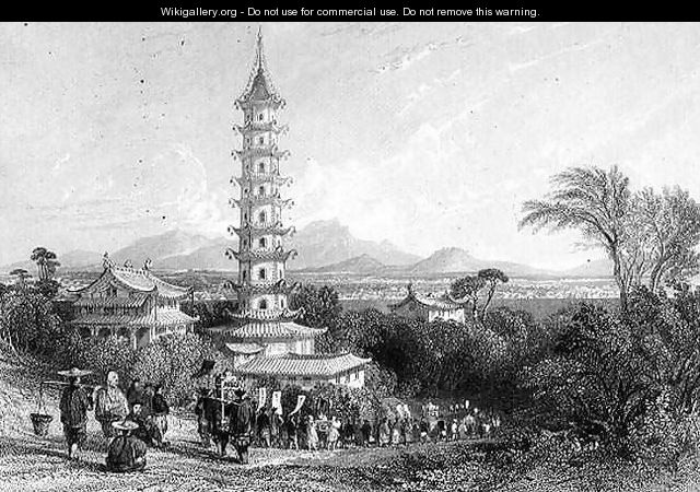 Porcelain Tower, Nanking - (after) Thomas Allom