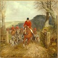 A Hunt Going Through A Gate - Henry Thomas Alken