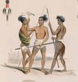 Maori warriors preparing for battle, from the 'New Zealand Illustrated' - George French Angas