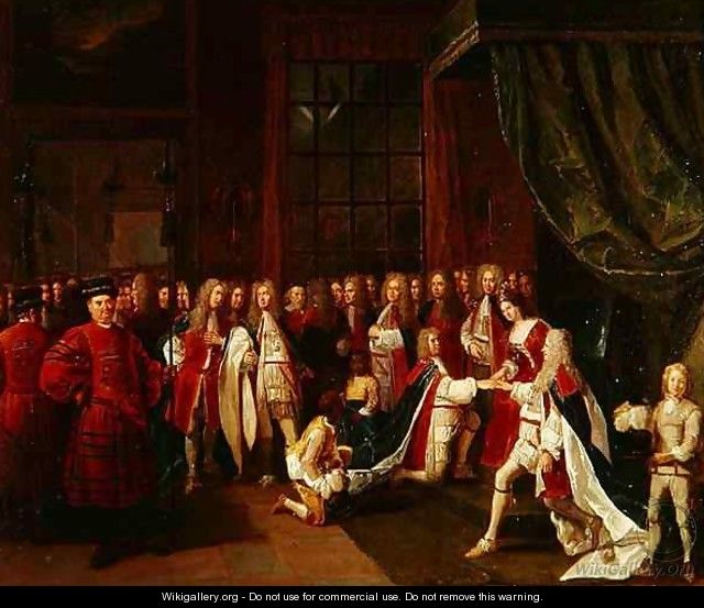 Queen Anne and the Knights of Garter - Pierre Angelis or Angillis