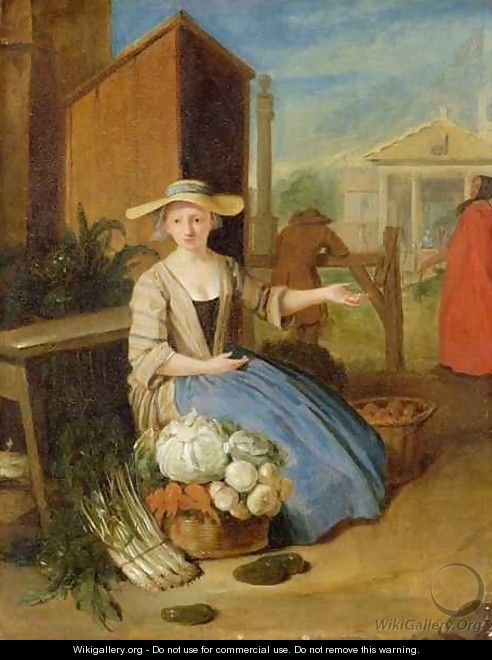 Vegetable Seller, Covent Garden - Pieter Angillis