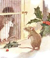 Saw a prison and in it the white ghost of a mouse - Anne Anderson