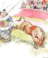 'The clown was so silly today - I kicked him quite hard', illustration from 'The Naughty Neddy Book' - Anne Anderson