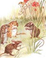 'Am staying with friends in the country', illustration from 'The Mischievious Mousie Book' - Anne Anderson