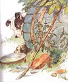 'One day I scratched the side of old Nipper's Kennel', illustration from 'The Mischievious Mousie Book' - Anne Anderson