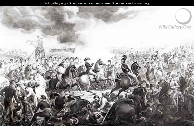 Wellington at the Battle of Waterloo - (after) Atkinson, John Augustus