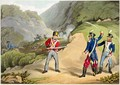 A British Soldier Taking Two French Officers at the Battle of the Pyrenees - (after) Atkinson, John Augustus