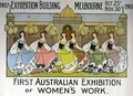 Design for a poster advertising the 'First Australian Exhibition of Women's Work' at the Exhibition Building in Melbourne - Helen L. Atkinson