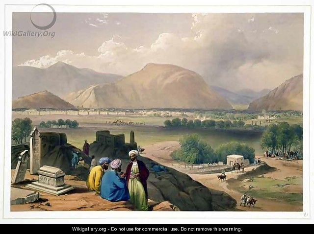 Caubul, from a Burying Ground on the Mountain Ridge, North-East of the City, from