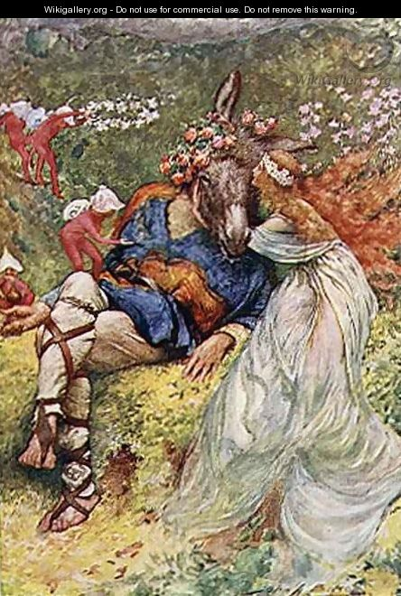 Titania and Bottom in A Midsummer