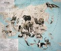 Map of animals in Asia and the Far East - Janos Balint