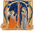 The Annunciation in an Initial M - Italian Miniaturist