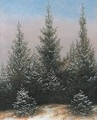 Fir Trees in the Snow - Caspar David Friedrich