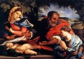 The Holy Family and St Catherine - Lorenzo Lotto