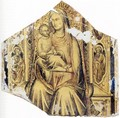 Virgin and Child Enthroned with Sts John the Baptist and John the Evangelist - Lorenzo Monaco