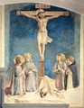 Crucifixion with the Virgin and Sts Cosmas, John the Evangelist and Peter Martyr - Angelico Fra
