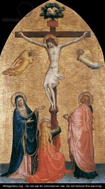 Crucifixion with the Virgin, John the Evangelist, and Mary Magdelene - Angelico Fra